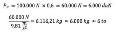 Ladung richtig sichern. Reibungskraft Formel Beispiel.