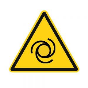 Piktogramme. Warnung vor automatischem Anlauf von Maschinen.